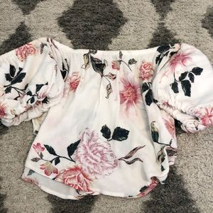 Urban outfitters off the shoulder top